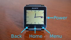 Sony smartwatch buttons