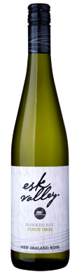 Esk Valley, Pinot Gris, Hawke's Bay, New Zealand, 2012