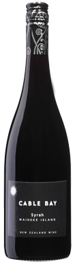 Cable Bay, Reserve Syrah, Auckland, New Zealand, 2013