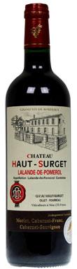 Château Haut Surget, Lalande-de-Pomerol, Bordeaux, 2013