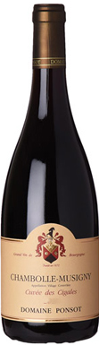Domaine Ponsot, Chambolle-Musigny, Cuvée des Cigales, 2015