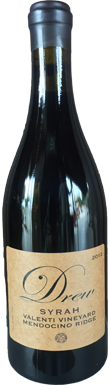 Drew Family, Mendocino Ridge, Valenti Ranch Syrah, 2012