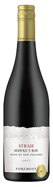 Foremost, Syrah, Hawke's Bay, New Zealand, 2015