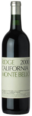Ridge Vineyards, Santa Cruz Mountains, Monte Bello, 2000