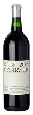 Ridge Vineyards, Alexander Valley, Geyserville, 2012