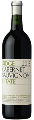 Ridge Vineyards, Santa Cruz Mountains, Estate Cabernet