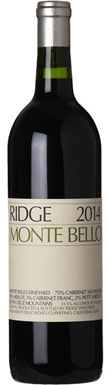 Ridge Vineyards, Santa Cruz Mountains, Monte Bello, 2014