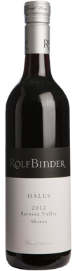 Rolf Binder, Barossa Valley, Hales Shiraz, 2012