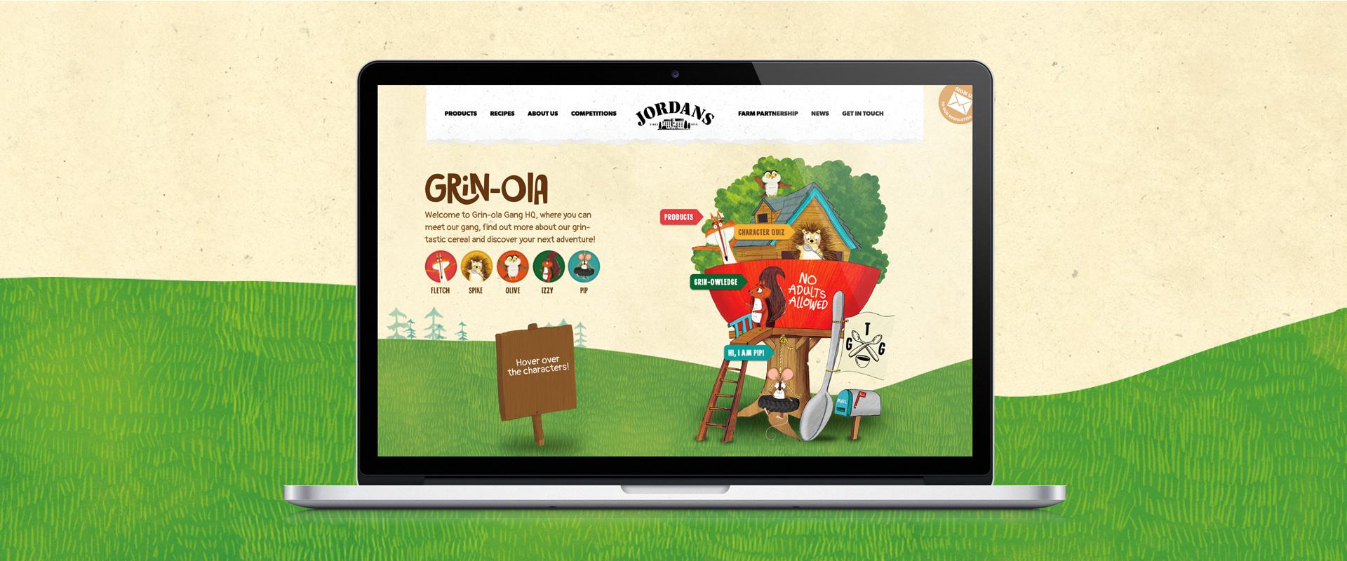 Grin-ola for Jordans Cereals