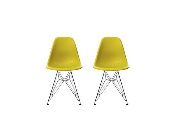 Set 2 sedute Plastic chair DSR, Vitra