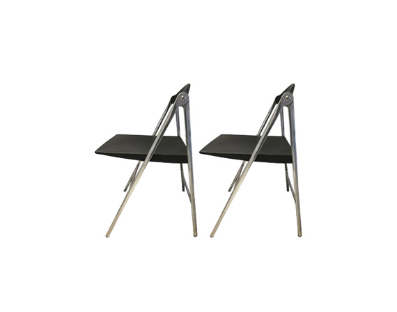 Donald Poltrona Frau.Set 2 Chairs Donald Poltrona Frau