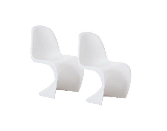 Set 2 Panton Chair (bianco), Vitra
