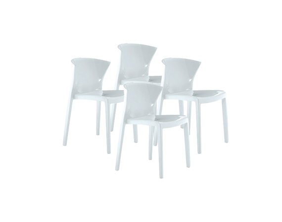 Set of 4 chairs Nord Poli, Green