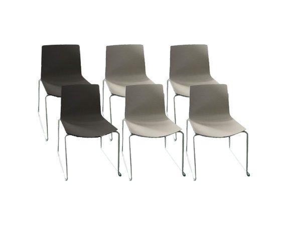 Set of 6 chairs Catifa 46 - Sled, Arper