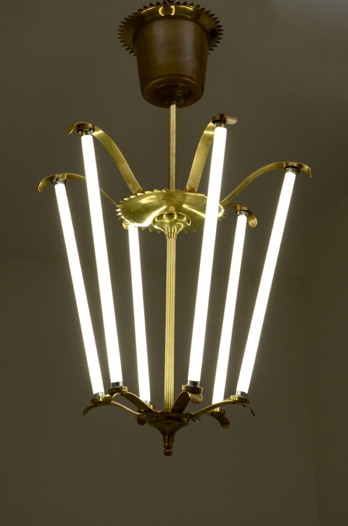Lampadario in ottone - Deesup