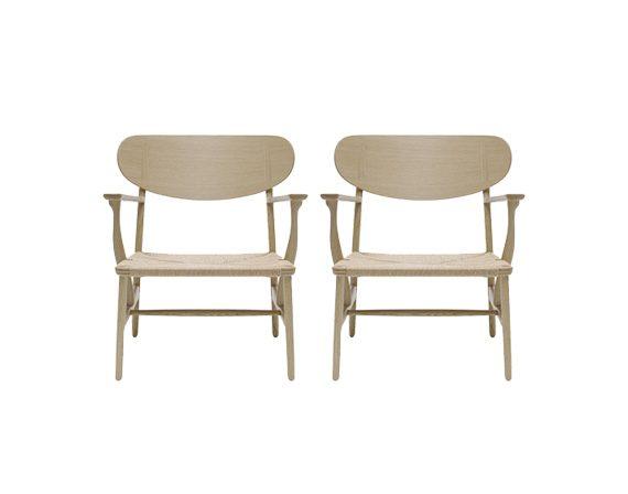 Set 2 CH22 Lounge Chair, Carl Hansen