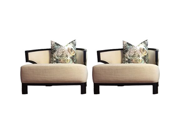 Set 2 Villa Lounge Chair, Pietro Costantini