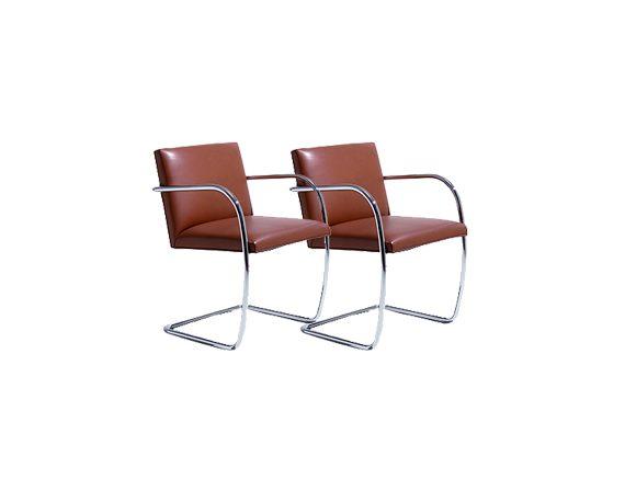 Set 2 Brno armchairs, Knoll