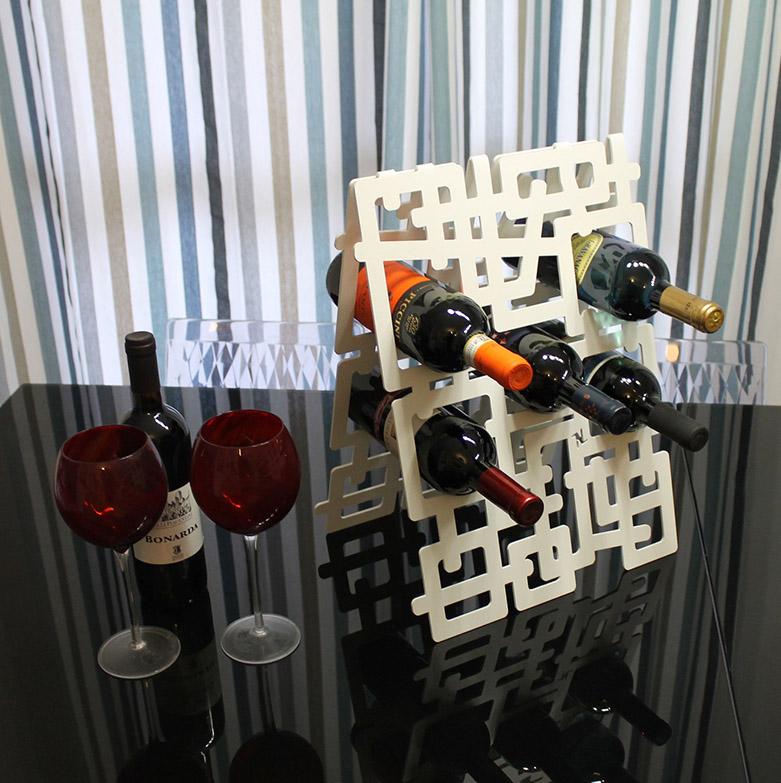 Portabottiglie kaos, Nikla steel design - Deesup