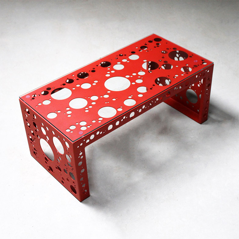 Tavolino rettangolare, Nikla steel design - Deesup