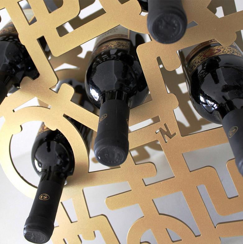 Portabottiglie Sparkling, Nikla steel design - Deesup