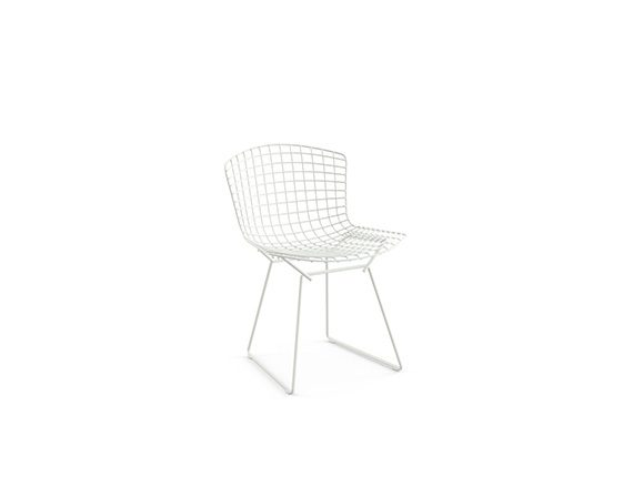 Bertoia Side Chair (white), Knoll