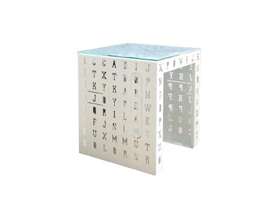 Tavolino Crossword, Nikla Steel Design