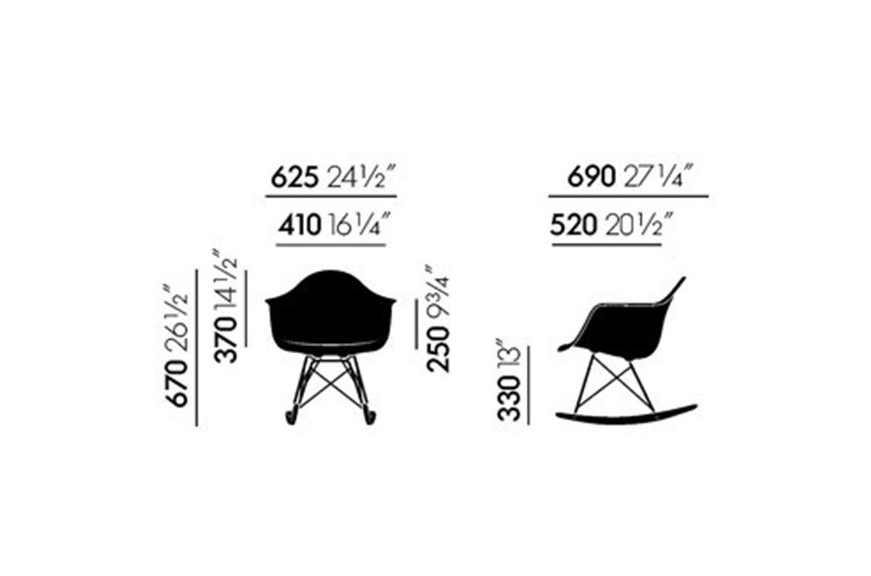 Sedia Dondolo Vitra Eames.Eames Plastic Armchair Rar Green Vitra Deesup