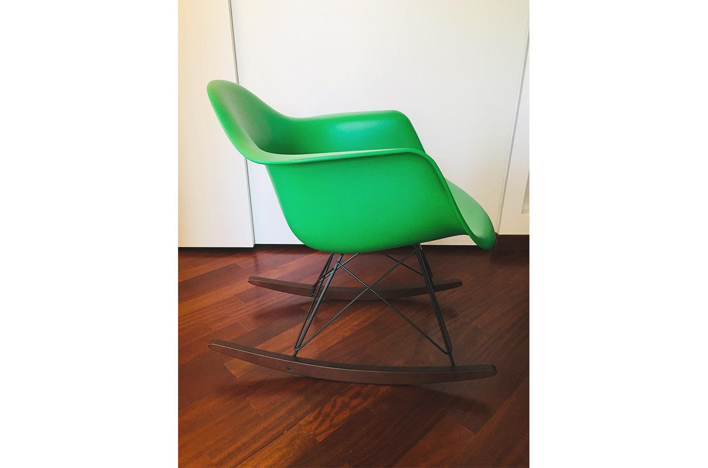 Eames Plastic Armchair Rar Verde Vitra Deesup