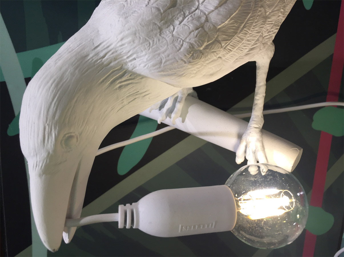 Bird Lamp White Looking - Deesup