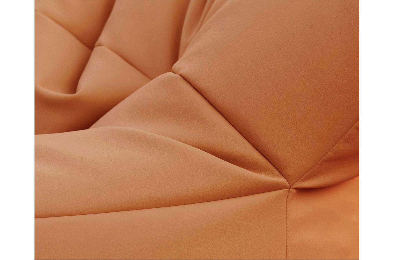 Poltrona Formosa (pelle arancio), Filippo Ghezzani - Deesup