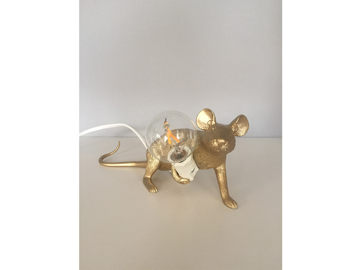 Mouse Lamp Gold, Seletti - Deesup