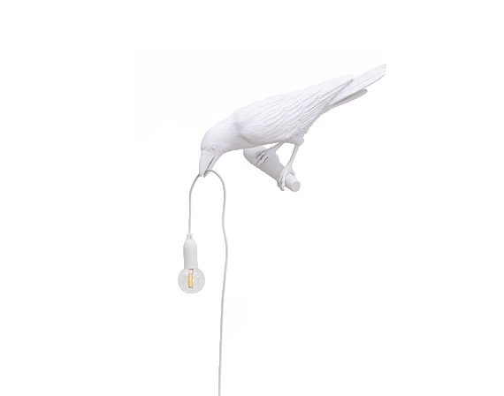 Bird Lamp White Looking Left (outdoor), Seletti