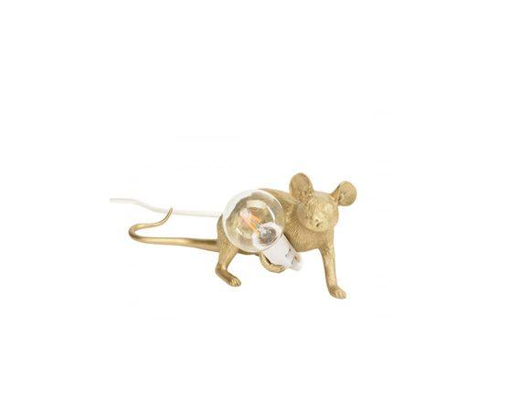 Mouse Lamp Gold (cavo bianco), Seletti