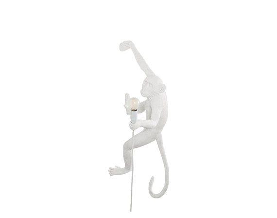 The Monkey Lamp Hanging Right White, Seletti