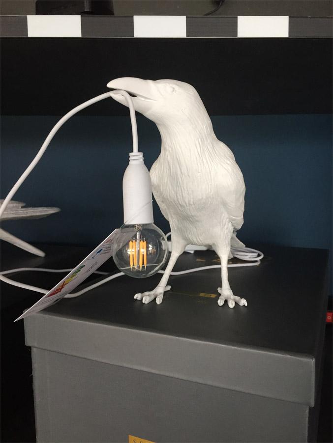 Bird Lamp White waiting, Seletti - Deesup