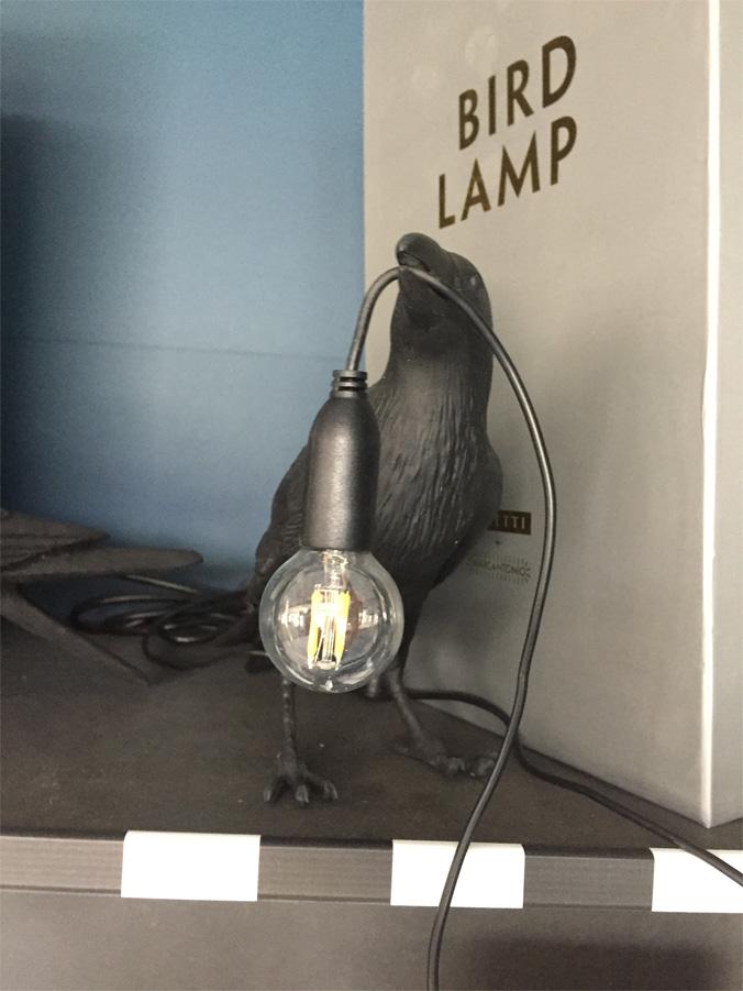 Bird Lamp Black waiting, Seletti - Deesup