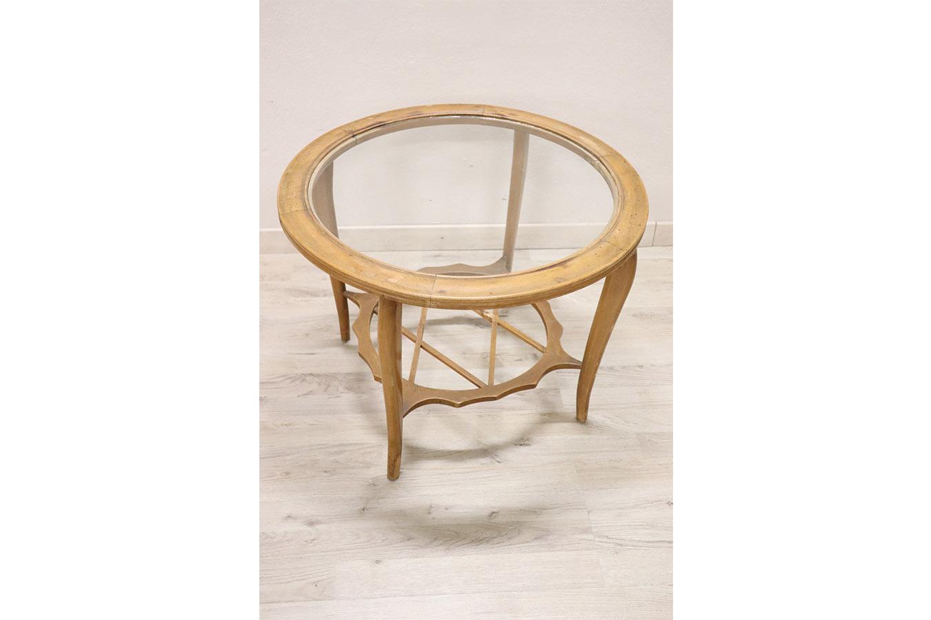 Tavolino circolare anni '40 by Paolo Buffa - Deesup