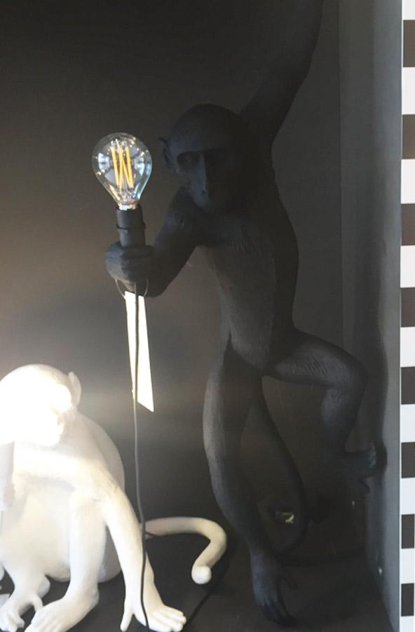 The Monkey Lamp Hanging Version Left (Black), Seletti - Deesup