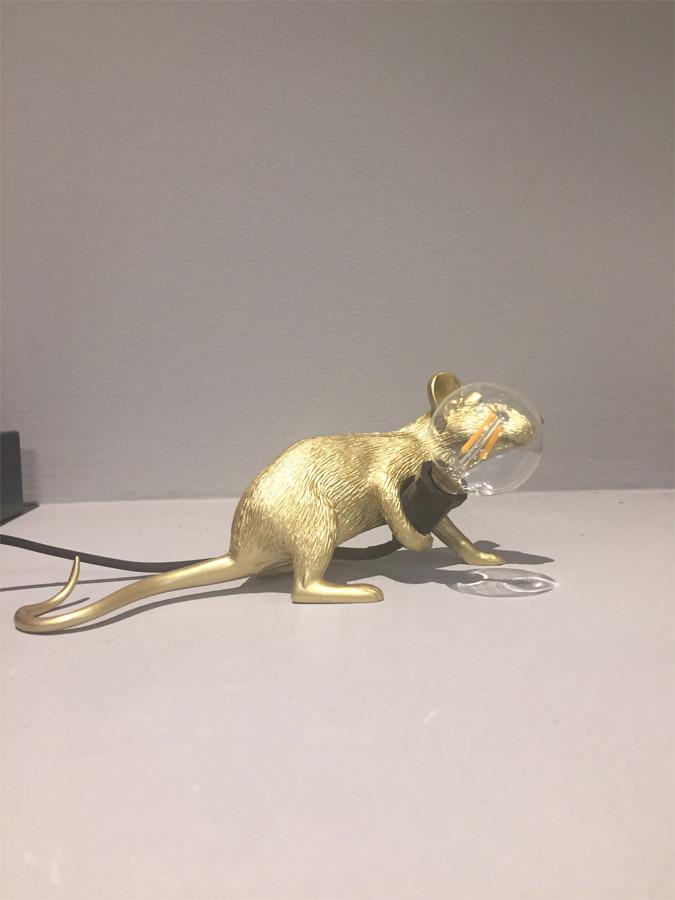 Mouse Lamp Gold (cavo nero), Seletti - Deesup