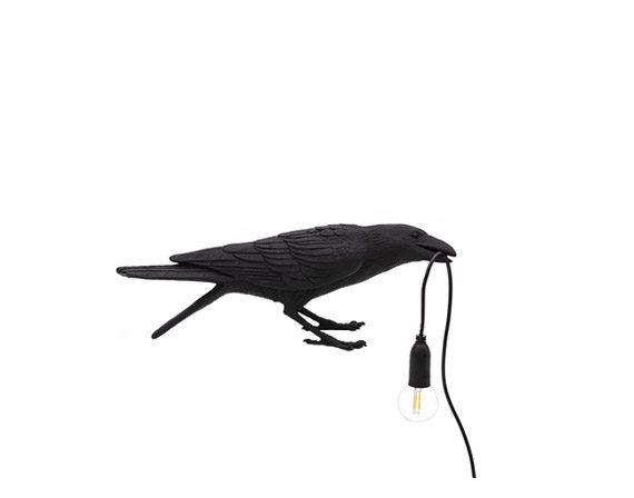 Bird Lamp Black Playing, Seletti