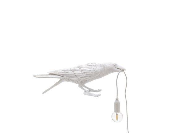 Bird Lamp White Playing (outdoor), Seletti