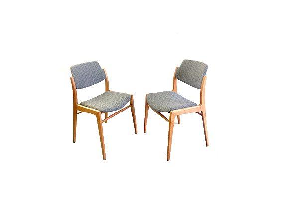 Set 2 sedie scandivane anni '50