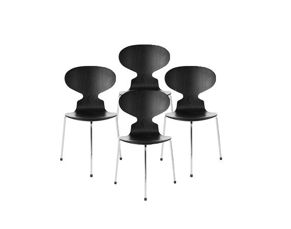 Set 4 Ant Chair, Fritz Hansen