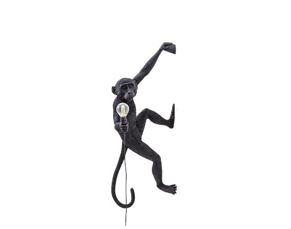The Monkey Lamp (Hanging Left Black), Seletti