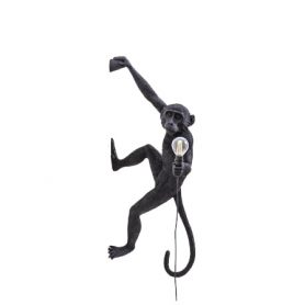 The Monkey Lamp Hanging Version Right (Black), Seletti