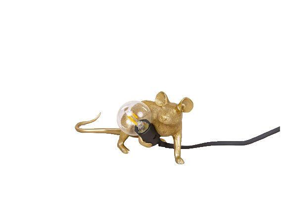 Mouse Lamp Gold (cavo nero), Seletti