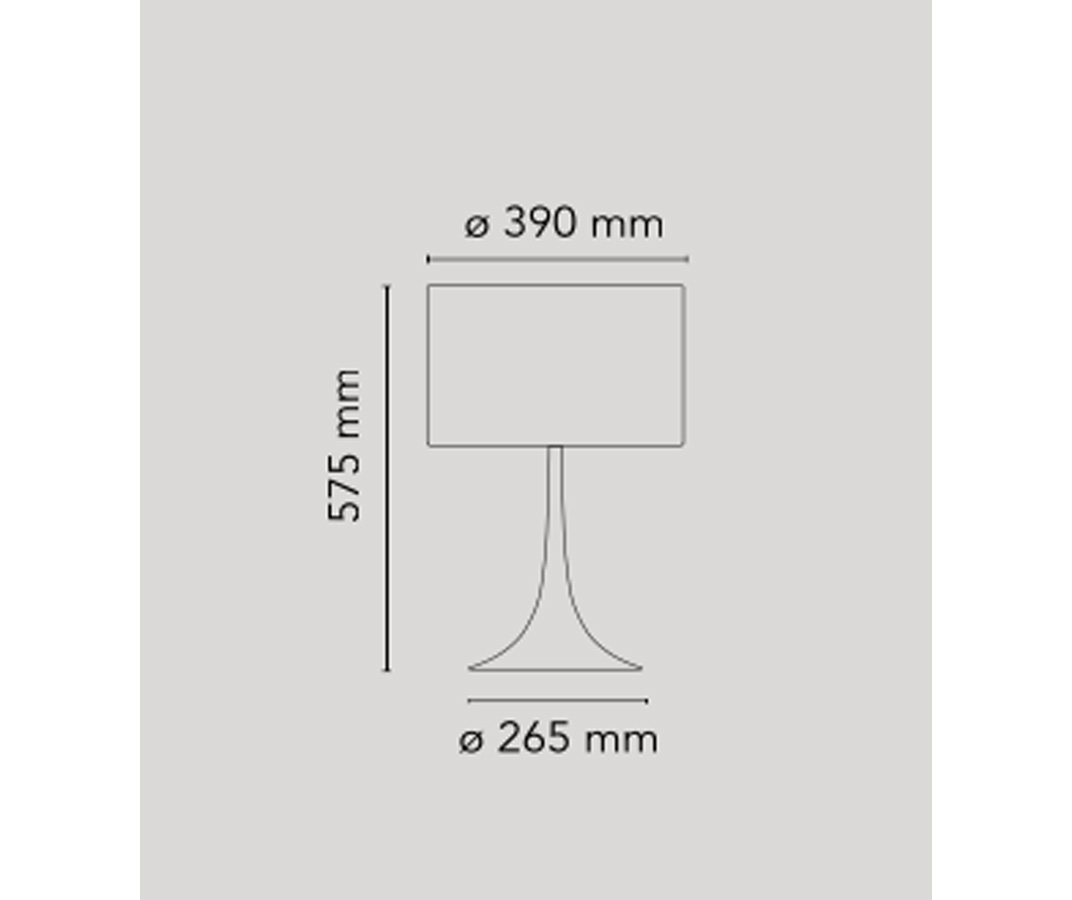 Spun Light Table 1 (nero), Flos - Deesup