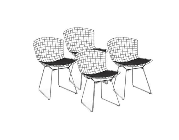 Set 4 Bertoia Side Chair, Knoll