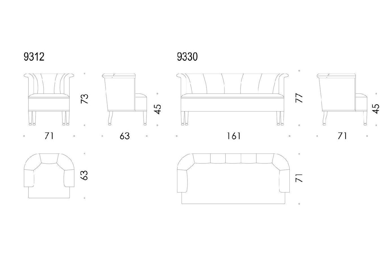 Set Allegasse (divano e poltrona), Wittmann - Deesup
